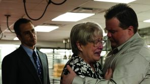 Paul Walter Hauser, Sam Rockwell and Kathy Bates in 'Richard Jewell'