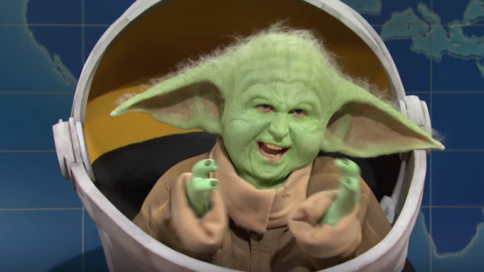 WATCH: Baby Yoda Swaggers On Saturday