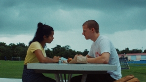 Taylor Russell and Lucas Hedges in 'Waves'