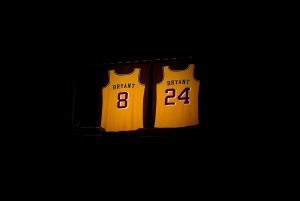 Mandatory Credit: Photo by Rob Latour/Shutterstock (10532344n) Kobe Bryant jersey 62nd Annual Grammy Awards, Show, Los Angeles, USA - 26 Jan 2020