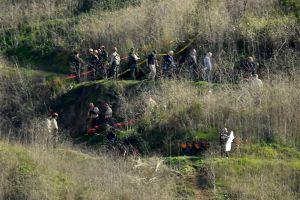 The Calabasas crash site in the Santa Monica Mountains.