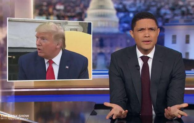 "Trevor Noah Scratches His Head Over Trump's ""Muddled"" Iran Strategy –  Deadline"