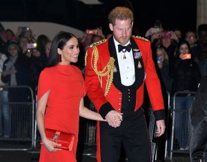 Meghan Markle Duchess of Sussex and Prince Harry attend the Mountbatten Festival of Music at the Royal Albert Hall, London, UK - 07 Mar 2020. (Credit: Nils Jorgensen/Shutterstock)