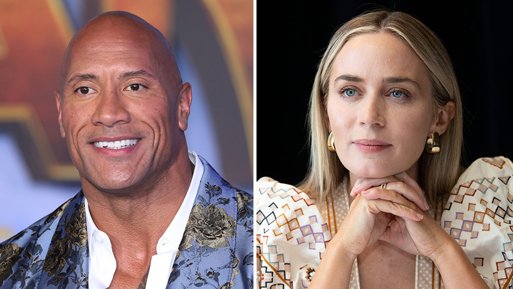 Hot Package Dwayne Johnson Emily Blunt In Ball And Chain Deadline