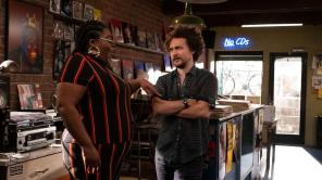 Da'Vine Joy Randolph and David H. Holmes in 'High Fidelity'