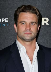 Mandatory Credit: Photo by Nils Jorgensen/Shutterstock (9858743i) Milo Gibson 'Hurricane' film premiere, London, UK - 04 Sep 2018 Premiere of war film about a group of Poles who fought over England during WWII, at Vue West End
