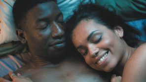 Mamadou Athie and Georgina Campbell in 'Cake'