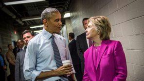Hillary Clinton and Barack Obama in 'Hillary'