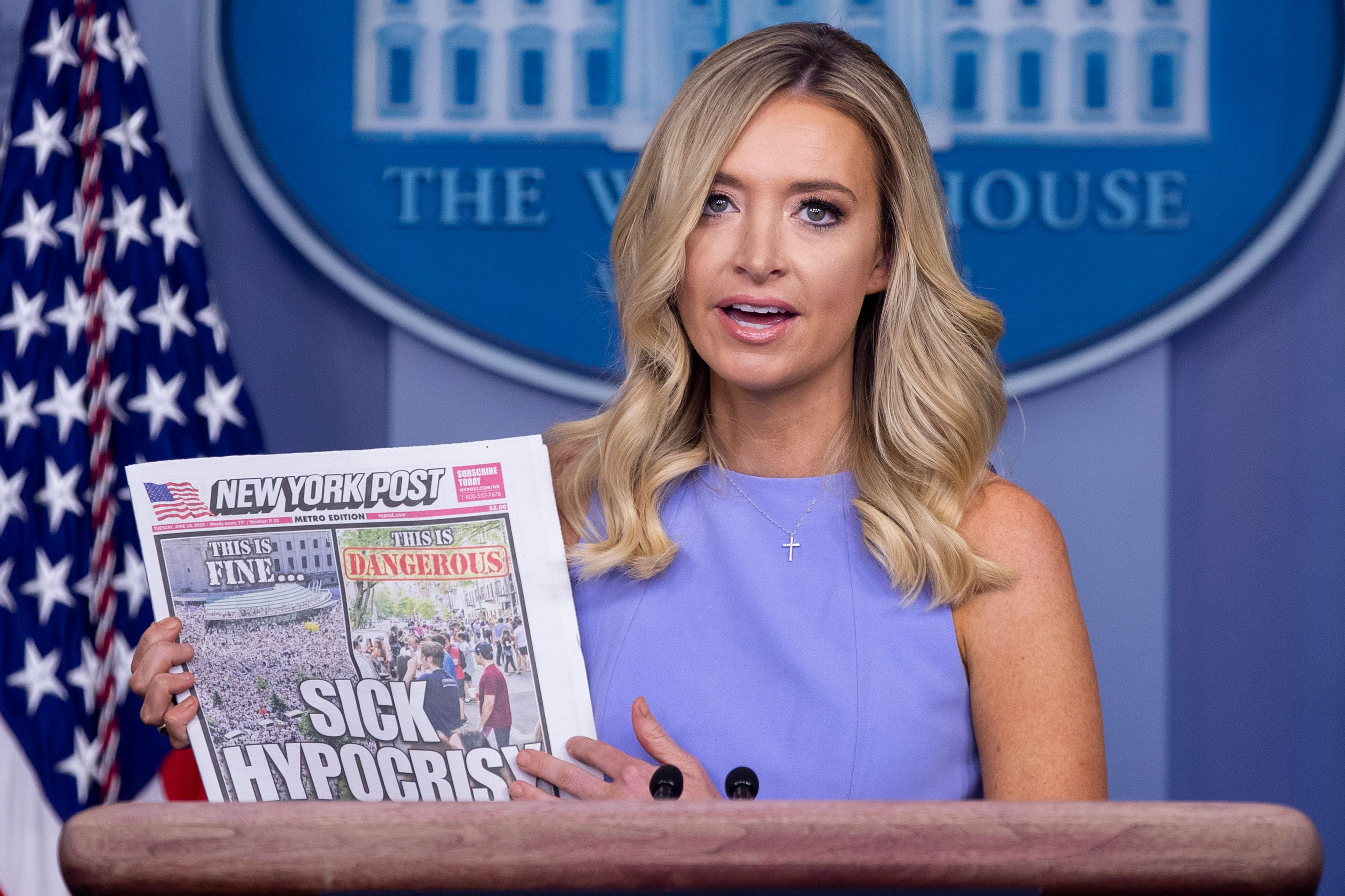 Secretary Kayleigh Mcenany Complains About Media Double Standard Deadline