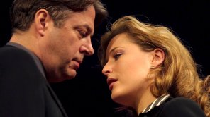 Gillian Anderson and Roger Allam in 'What the Night is For'