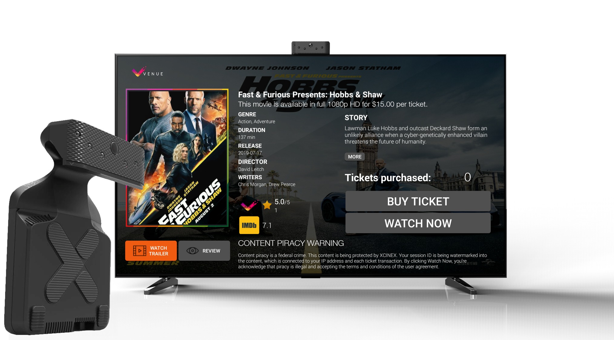 Xcinex Prepares To Launch Venue Streaming System Using Sensor To Count Viewers And Charge Per Ticket Deadline
