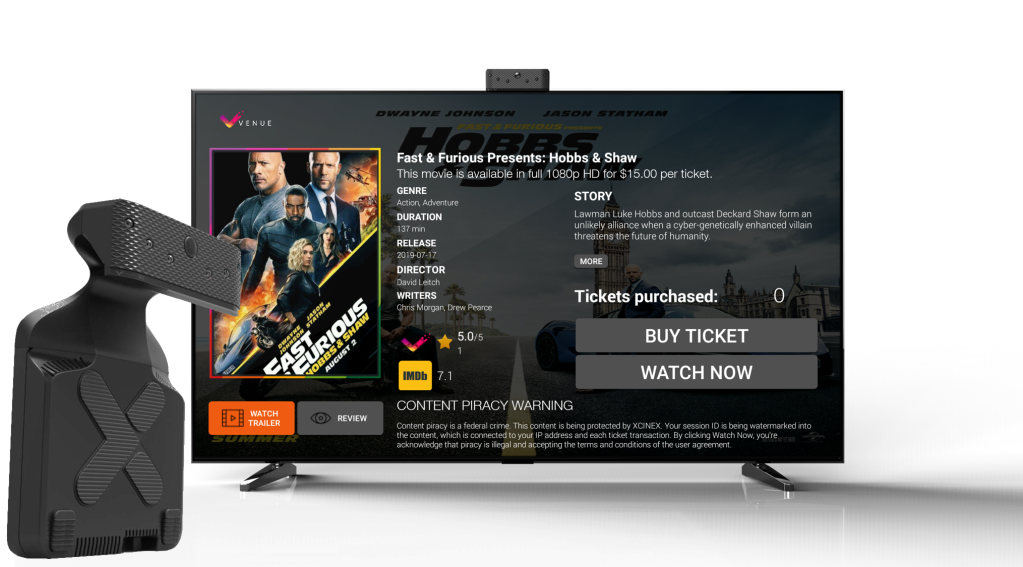 Xcinex Prepares To Launch Venue Streaming System, Using Sensor To Count Viewers And Charge Per Ticket