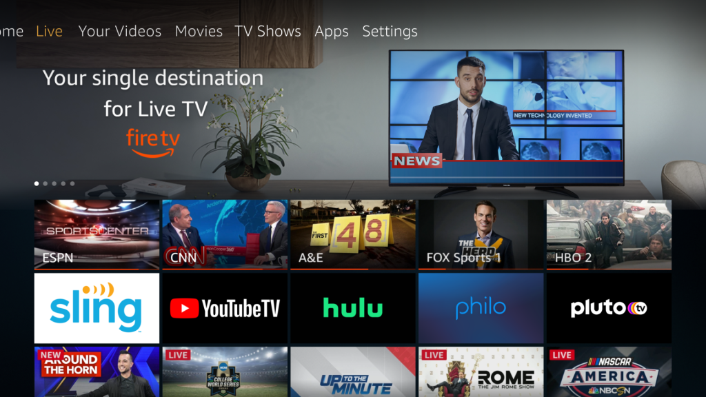 amazon fire tv live additions