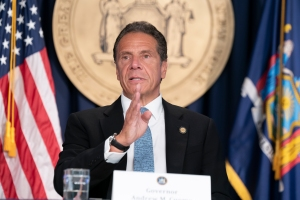 """NY Gov. Andrew Cuomo Pacts With The RealReal On Masks By Local Designers; Slams White House Cop-Out """"We Can't Control The Pandemic"""""""