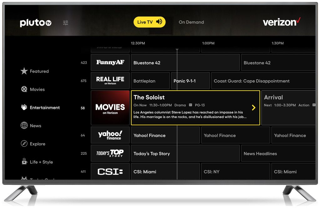 Pluto Tv Goes Live On Verizon In Biggest Free Streaming Distribution Deal To Date Deadline