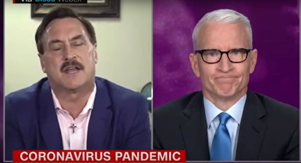 Watch Anderson Cooper Puts Mypillow Guy To Bed Snake Oil Vs Glory To God Deadline