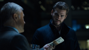 Liam Hemsworth and Christoph Waltz in 'Most Dangerous Game'