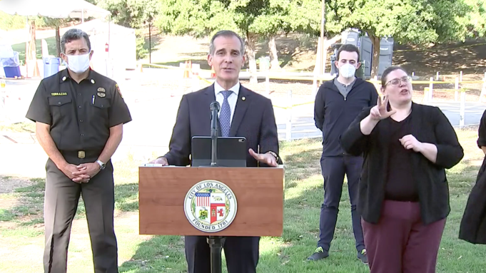 Mayor Garcetti Says L A Will Shut Off Power At Homes Throwing Parties Deadline