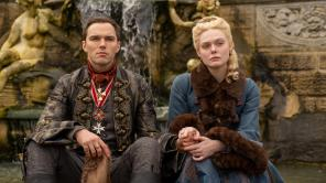 Elle Fanning and Nicholas Hoult in 'The Great'