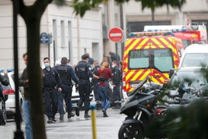 Production Company Employees Injured In Paris Knife Attack Near Former Charlie Hebdo Offices; Two Suspects Arrested