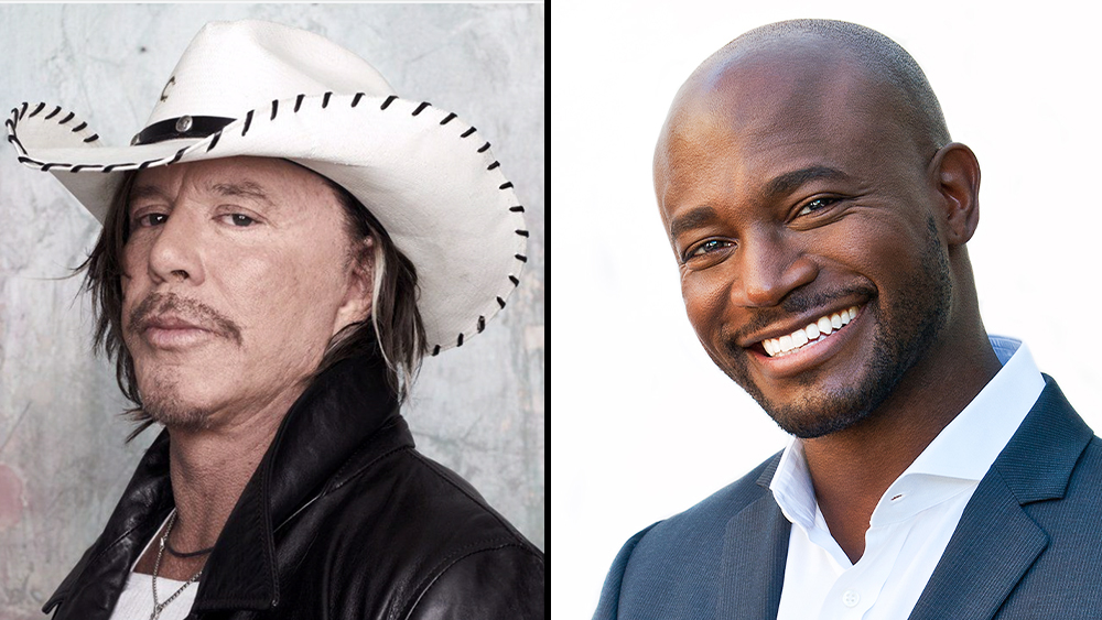 Mickey Rourke & Taye Diggs Board Horror Thriller 'Mammon'