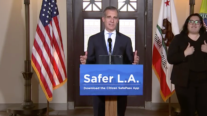 L A S Garcetti Wants To Track Your Movements Anonymously Of Course Deadline