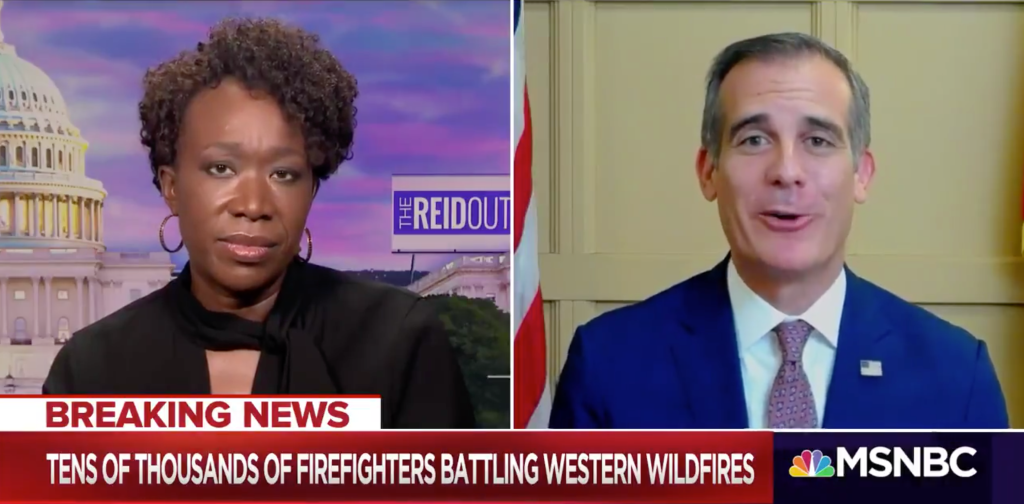 Los Angeles Mayor Eric Garcetti Goes After Donald Trump In Dual TV Interviews