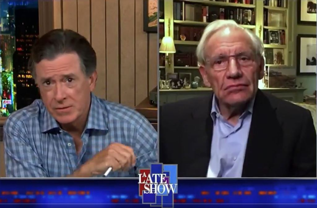 Stephen Colbert Airs Bob Woodward's Exclusive Tape Of Donald Trump Describing The Fallout From An April Sneeze - Deadline