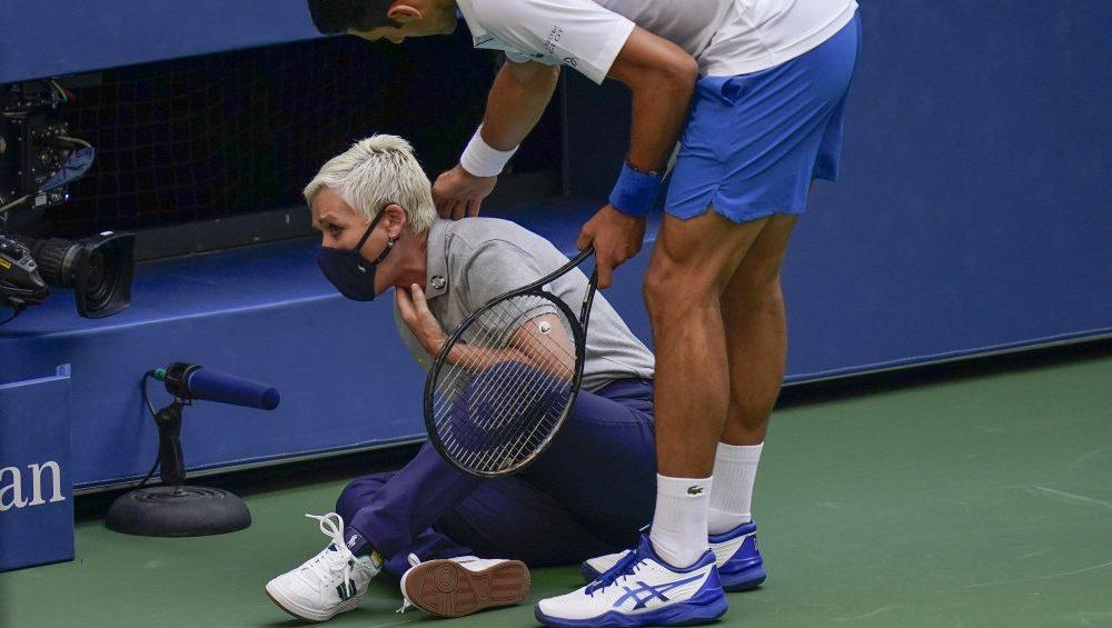 U S Open Shocking Novak Djokovic Disqualification Takes Over Espn Coverage Deadline