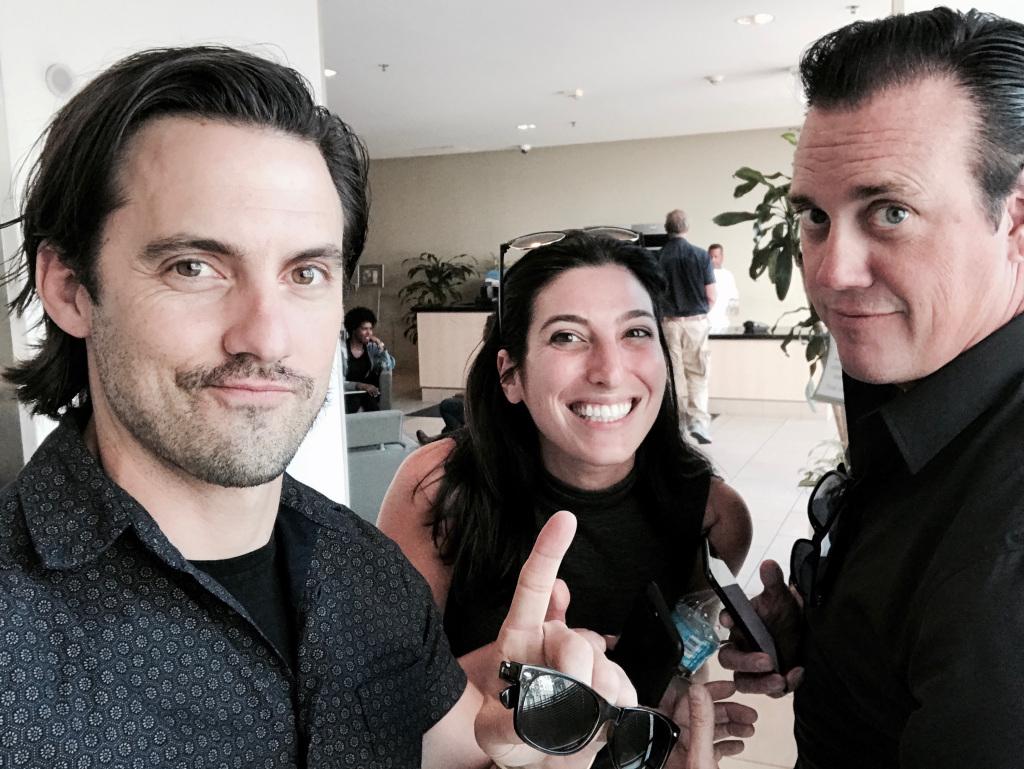 Milo Ventimiglia, Deanna Harris, Russ Cundiff of DiVide Pictures