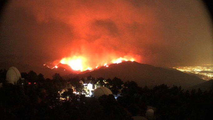 Bobcat Fire In Los Angeles Threatens Mt Wilson Observatory Tv Towers Deadline