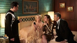 Daniel Levy, Catherine O'Hara, Annie Murphy and Eugene Levy in 'Schitt's Creek'