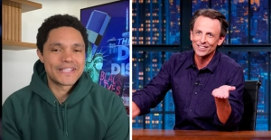 "Seth Meyers, Trevor Noah Fear For Trump ""Coup D'Etat"" If Biden Wins Election: ""Who Knows What Could Happen"""