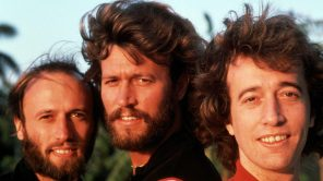 Maurice, Barry, and Robin Gibb of The Bee Gees.