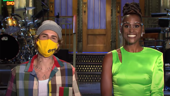 Justin Bieber and Issa Rae
