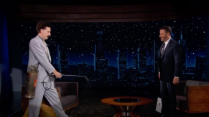 Borat Puts Jimmy Kimmel Through His Own Chaotic COVID-19 Safety Protocols