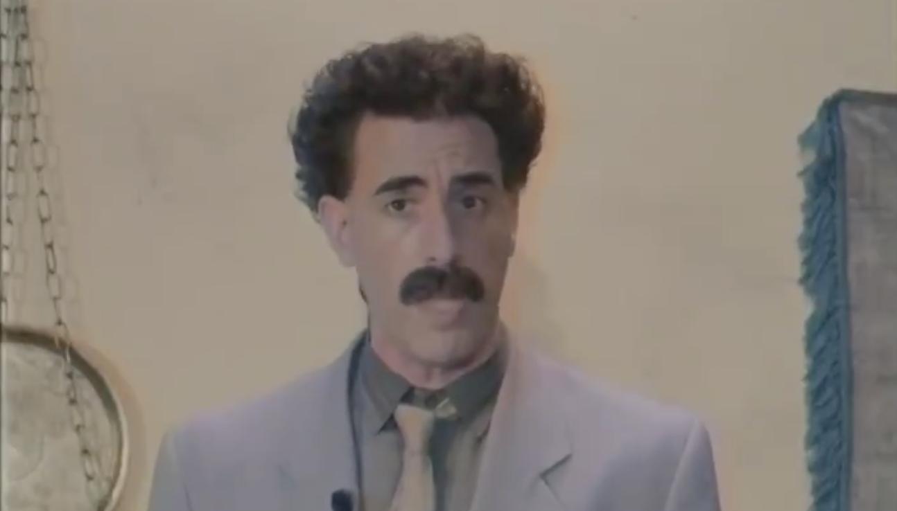 Borat Trolls Rudy Giuliani On Twitter Just Minutes Before Final Presidential Debate
