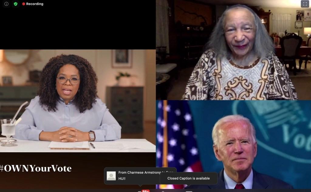 Joe Biden Makes Surprise Appearance On Oprah Winfrey's Get-Out-The-Vote Zoom Conversation