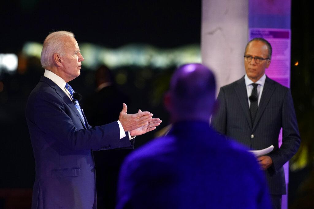 Joe Biden Nbc News Town Hall Review Ex Vp Deftly Swipes At Trump Deadline