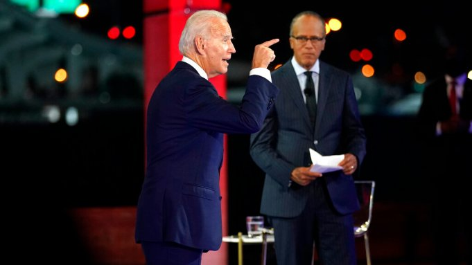 Biden Town Hall Ratings Down From Trump Event Kansas City S Nfl Win Tops Night Deadline