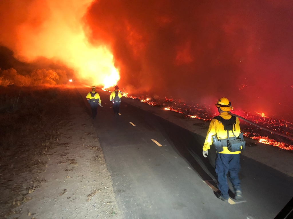 Multiple New Fires Spark Across Southern California As Orange County Blaze Spreads Freely, Overwhelming Local Resources; 5 Firefighters Injured; Power Lines Again Suspect In Ignition