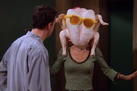 Courteney Cox Recreates Famous 'Friends' Dance With Turkey On Her Head For Thanksgiving