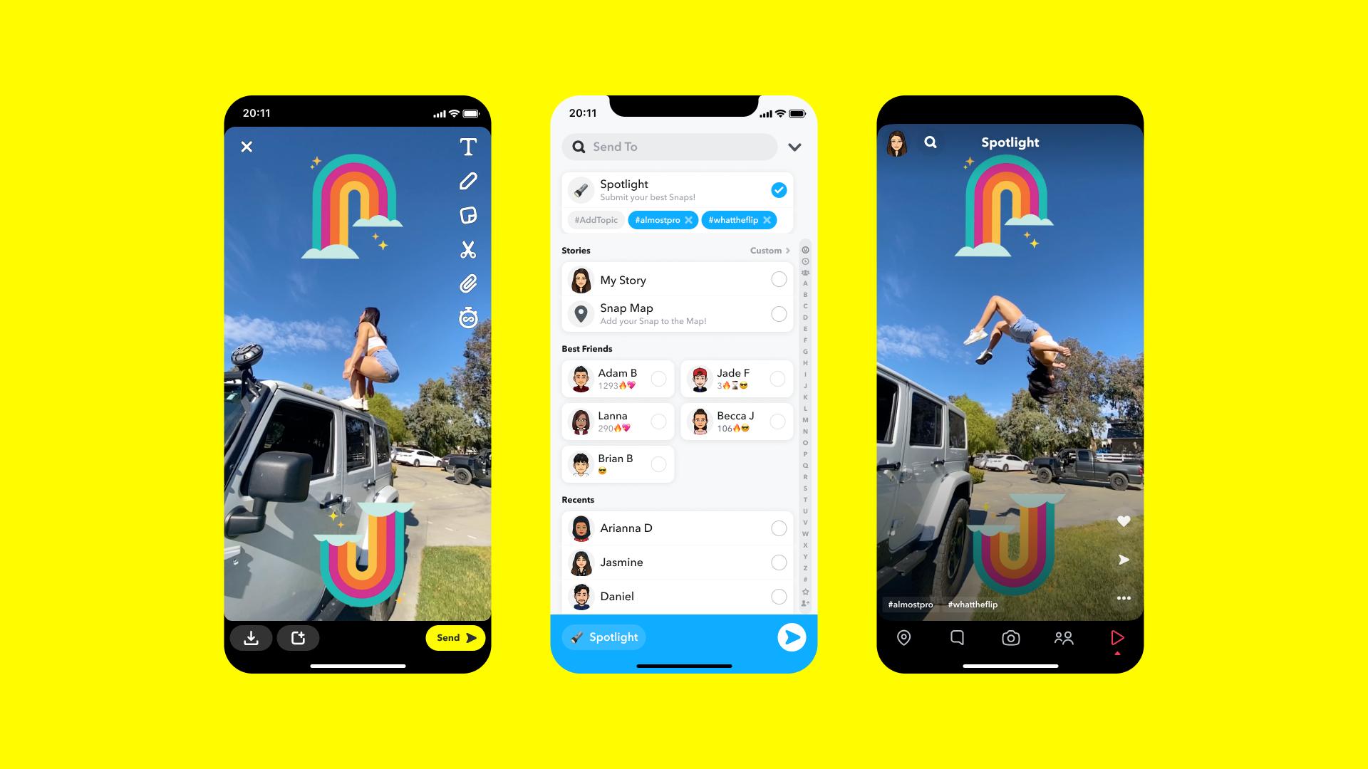 Snapchat Adds Spotlight