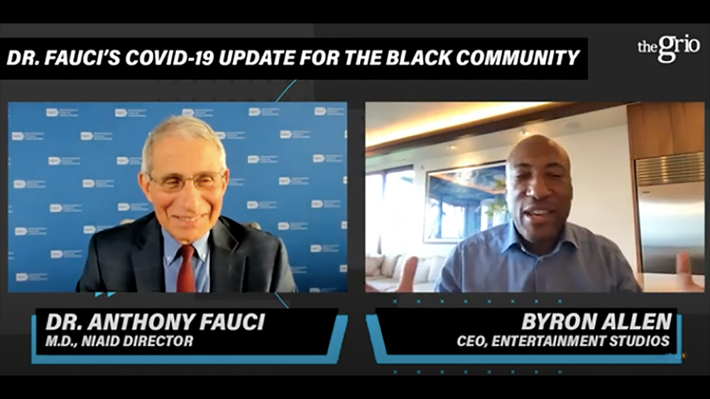 Dr. Fauci & Byron Allen Talk Covid-19 Vaccine, Skepticism In Black Community Surrounding Potential Treatments