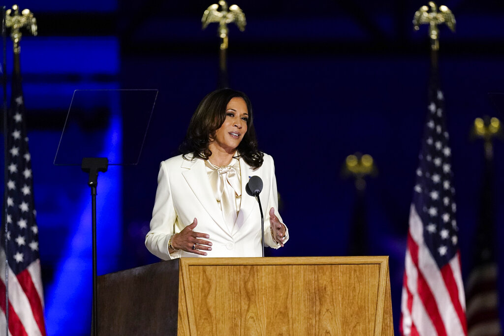 Kamala Harris Steps Into History With Her 1st Speech As Vp Elect Deadline