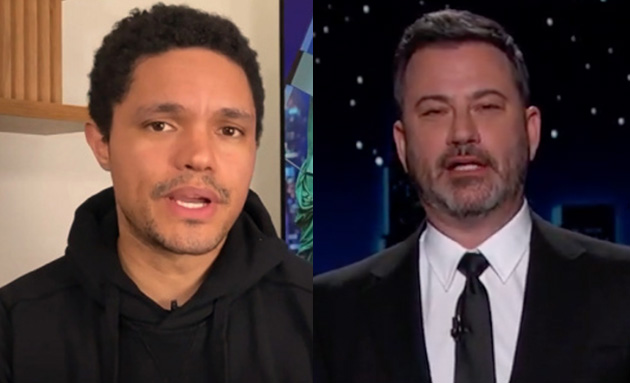 """Trevor Noah & Jimmy Kimmel Knock Trump's """"Really F**king Dumb"""" Decision To Pass On Additional Pfizer Vaccine Doses As UK Begins Rollout"""