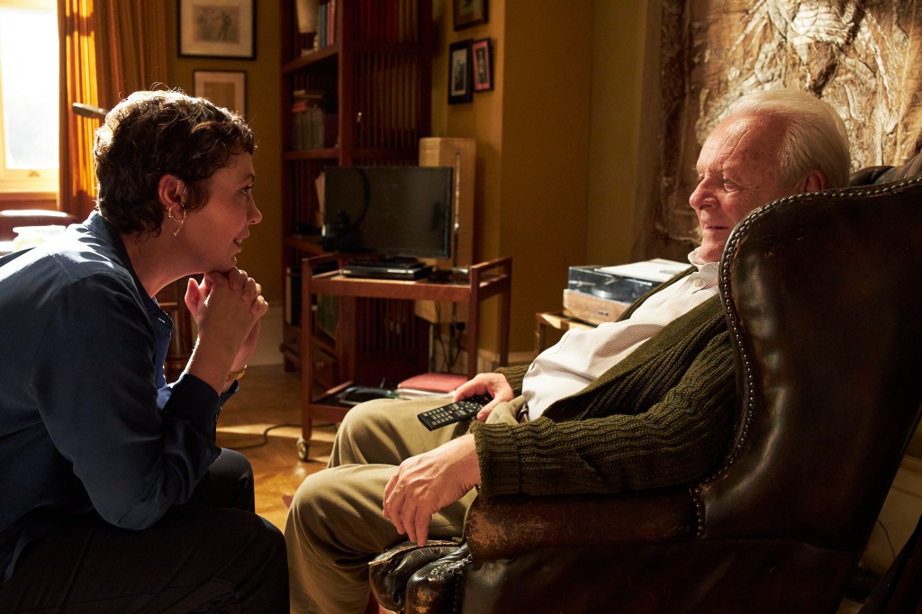 Anthony Hopkins Olivia Colman in 'The Father'