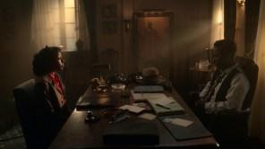 E'myri Crutchfield and Chris Rock in 'Fargo'