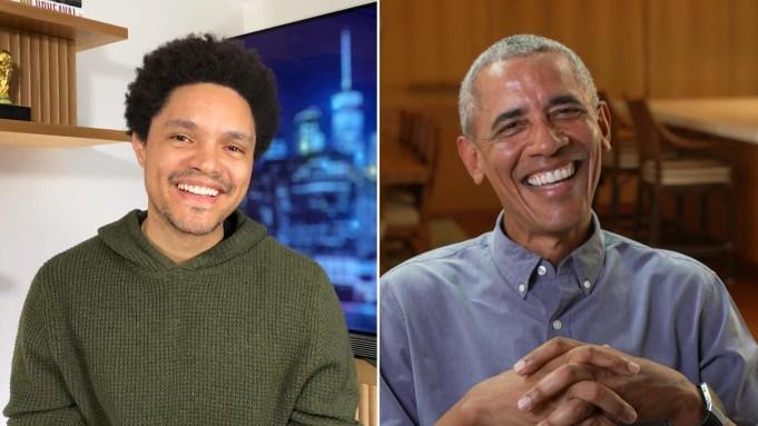 Barack Obama and Trevor Noah