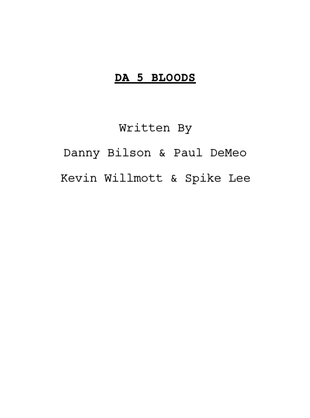 Da 5 Blood Screenplay